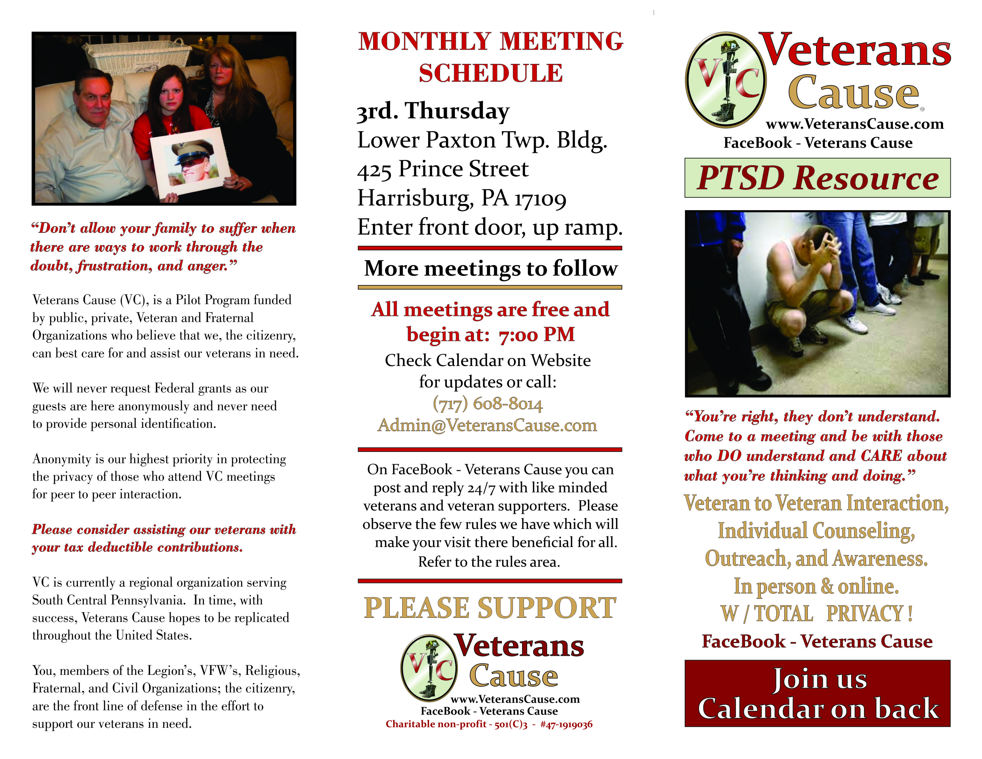 Veterans Cause Flyer Front 02272015